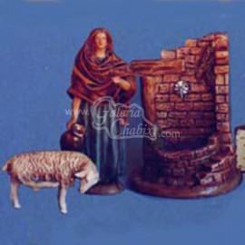 Pastora con ánfora y cordero