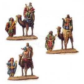 Reyes a camello con pajes