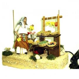 Pastora móvil en puesto de mercado
