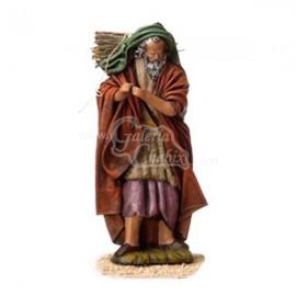 Anciana con cesto