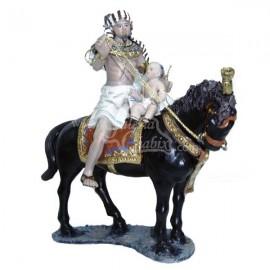Egipcio a caballo con niño