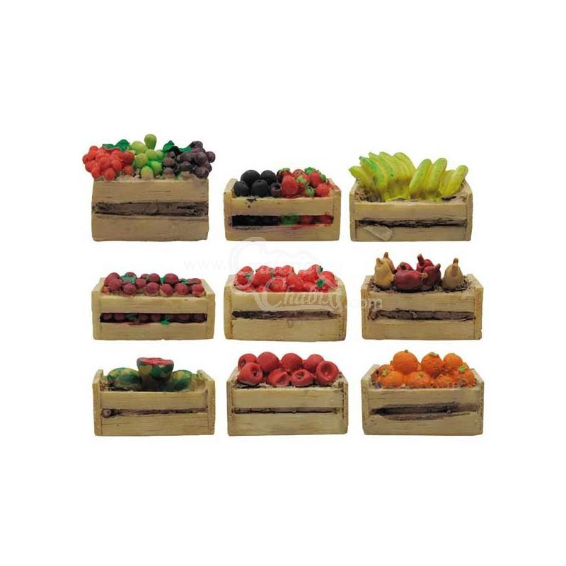 Mini caja de frutas tienda de belenes nacimientos for Mesa con cajas de fruta