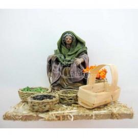 Pastora vendiendo verduras