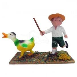 Pastor con pato
