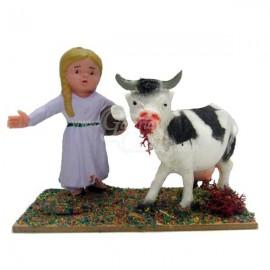 Pastora con vaca