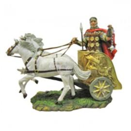 Biga con caballos blancos y mazo