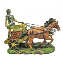 Biga con caballos pardos