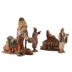Adoración reyes, pajes y camellos