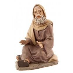 Pastor anciano sentado