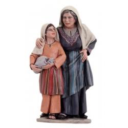 Anciana con niña