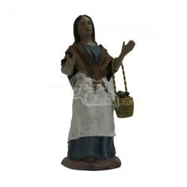 Pastora con Delantal y Cesta