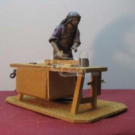 Carpintero móvil con cepillo