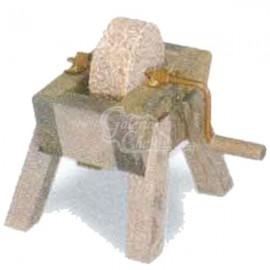 Rueda de afilador de madera