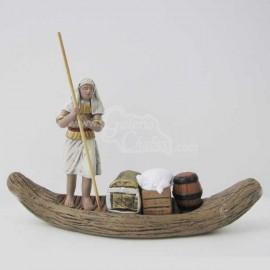 Egipcio en canoa