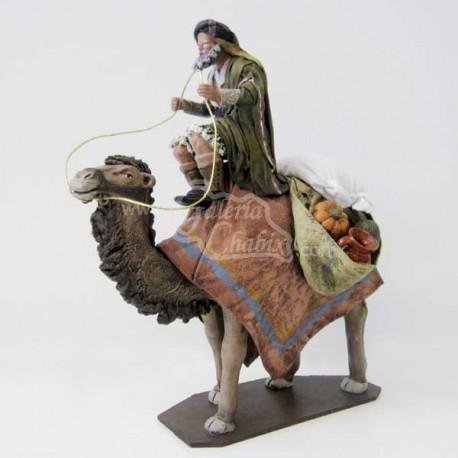 Arriero sentado en camello